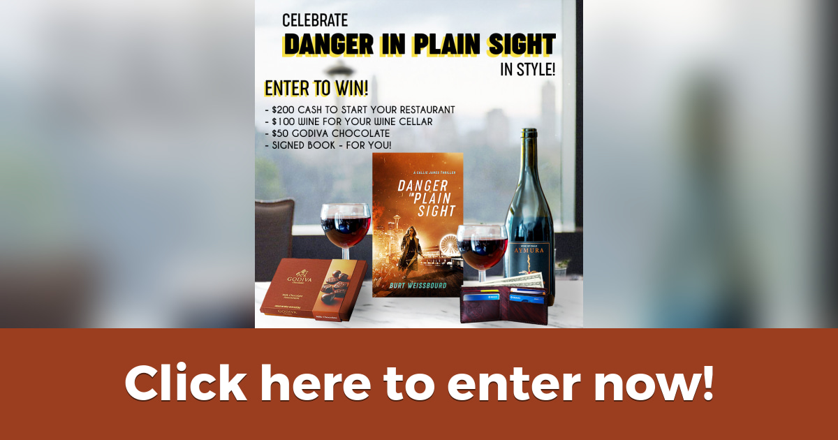 Celebrate in Style! Enter for a Chance to WIN  Cash, Wine,  Chocolate and a Signed Book