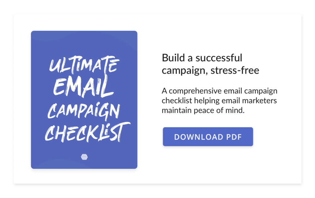 Hive's Ultimate Email Campaign Pre-send Checklist