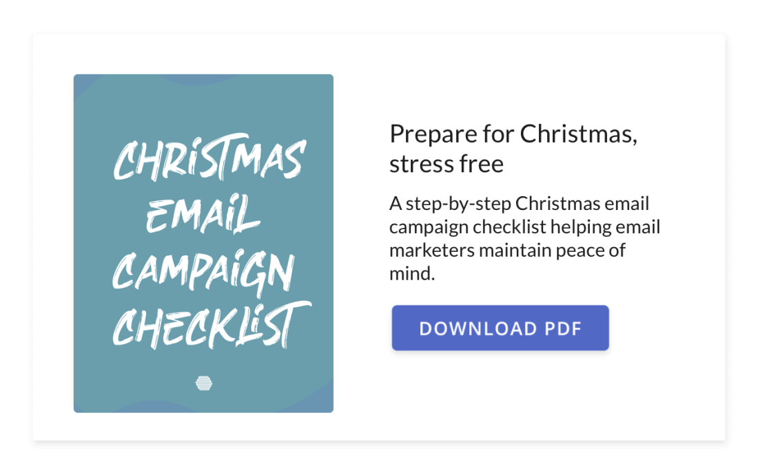 Hive's Christmas Email Marketing Checklist