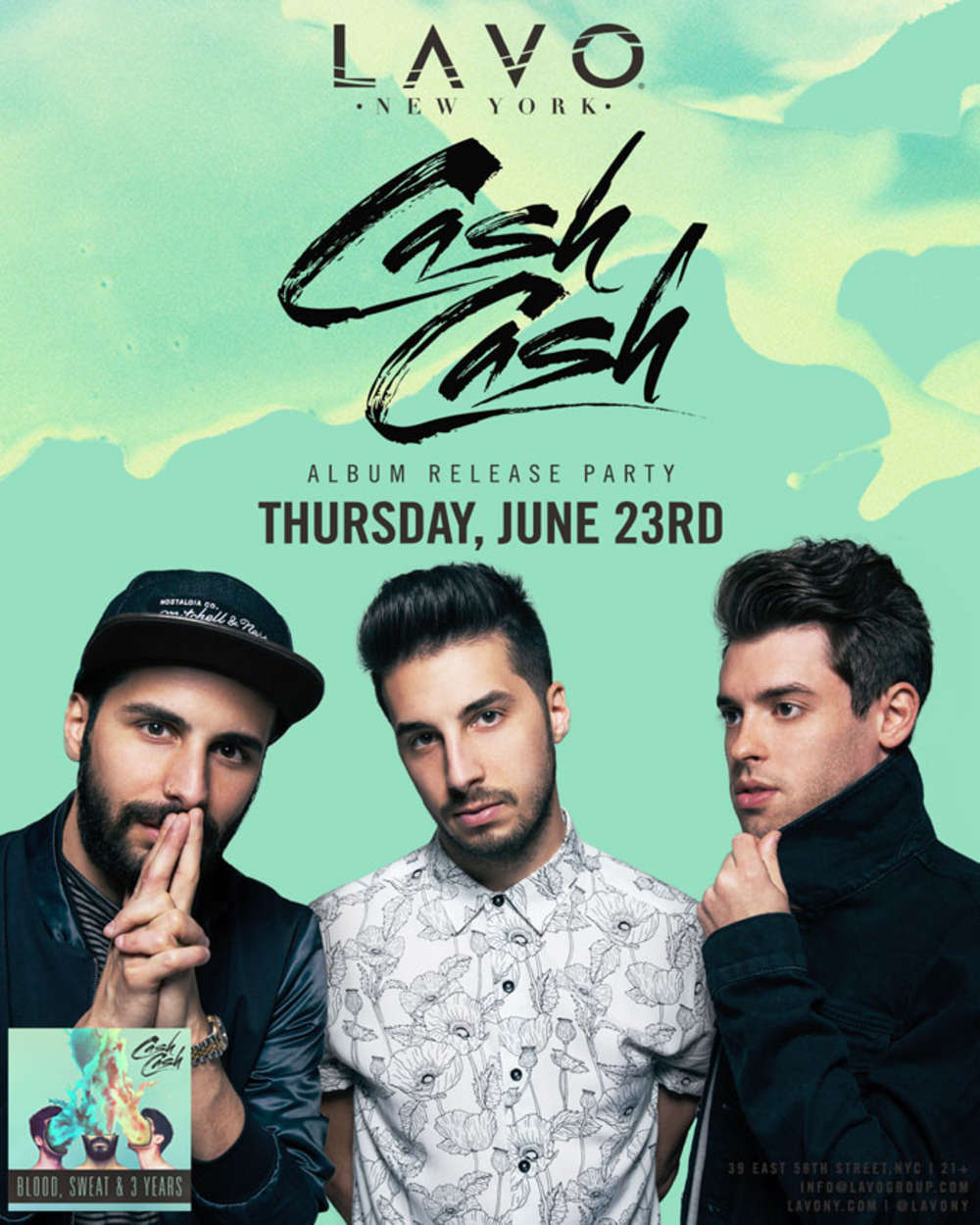 Contest Win 2 Tickets And A Meet And Greet With Cash Cash At Lavo
